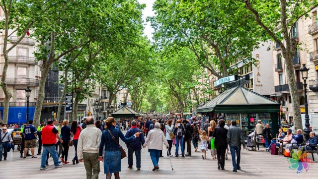 Barselona La Rambla Caddesi