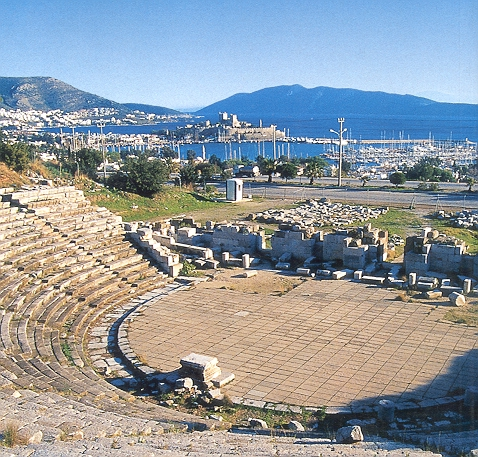 bodrum antik tiyatro ile ilgili görsel sonucu