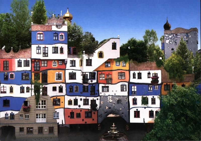hundertwasserhaus wien ile ilgili görsel sonucu